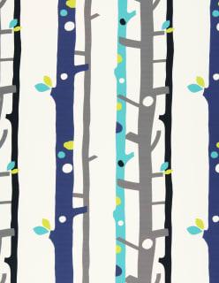 TREES -paloturv. verhokangas sininen