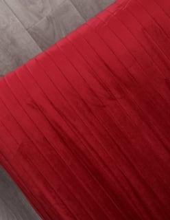 HILJAISUUS -peitekangas tummanpunainen