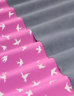 BIRD heijastava softshell aniliininpunainen