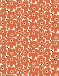 PIENI UNIKKO -akryylipinnoitteinen puuvillakangas oranssi