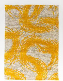 SILMUKAT -matto 140x200 cm tummakeltainen