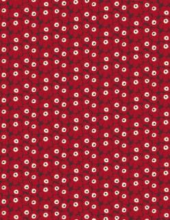 MINI UNIKKO -puuvillakangas punainen