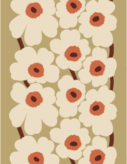 UNIKKO -puuvillahamppukangas vaaleanvihreä