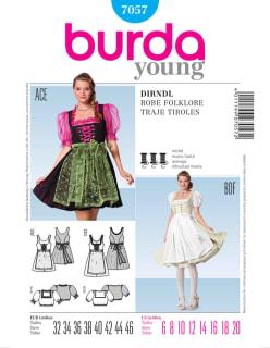 BURDA-7057 sininen