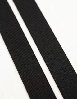 KUMINAUHA PEHMEÄ 25mm 50m musta