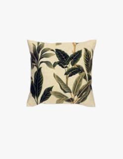 VIHERLEHDET -tyynynpäällinen 45x45 cm vihreä