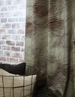 LEPO -puuvillasatiinikangas ruskea