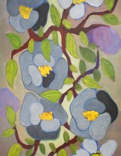 FLOWERY sininen