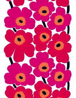 UNIKKO -puuvillakangas aniliininpunainen