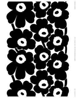 UNIKKO -puuvillakangas musta