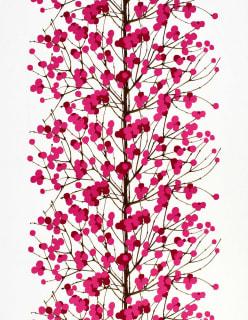 LUMIMARJA -puuvillakangas aniliininpunainen