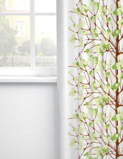 LUMIMARJA -puuvillakangas vaaleanvihreä