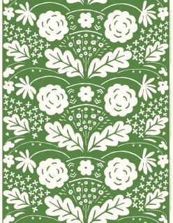 ONNI -akryylipinnoitettu puuvillakangas vihreä