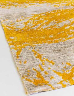 SILMUKAT -matto 160x230 cm tummakeltainen