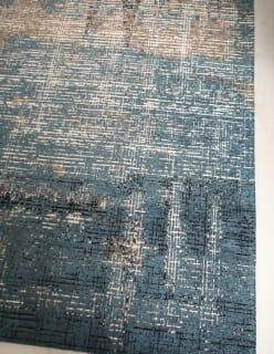 PIIRTO -matto 140x200 sininen