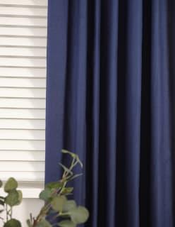 MADDY -verho 140x250 cm tummansininen
