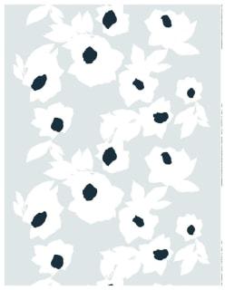 JÄÄROUVA -puuvillakangas vaaleaharmaa