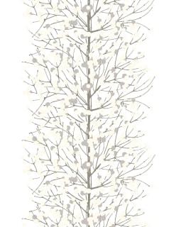 LUMIMARJA -puuvillasatiini valkoinen