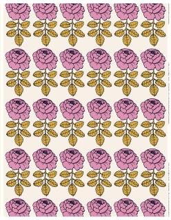 MAALAISRUUSU -puuvillakangas roosa