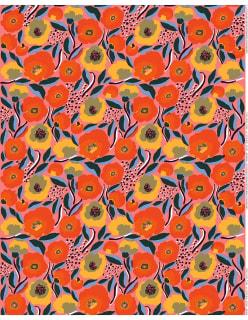 ROSARIUM -puuvillakangas punainen