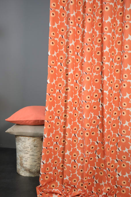 MINI UNIKKO  -puuvillakangas oranssi