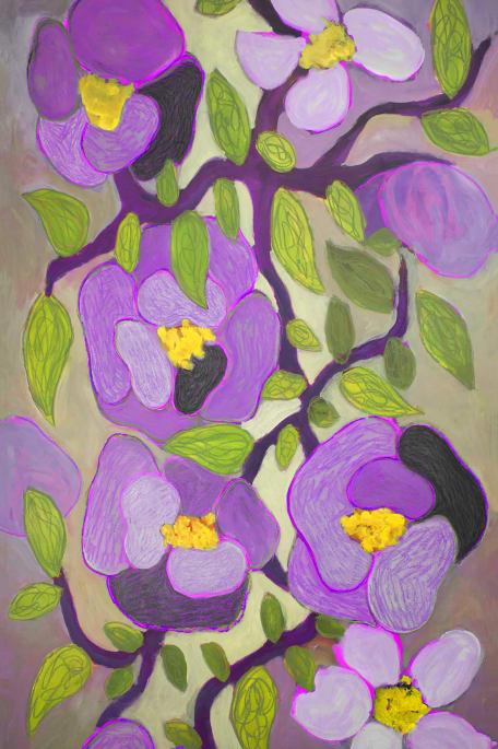 FLOWERY lila