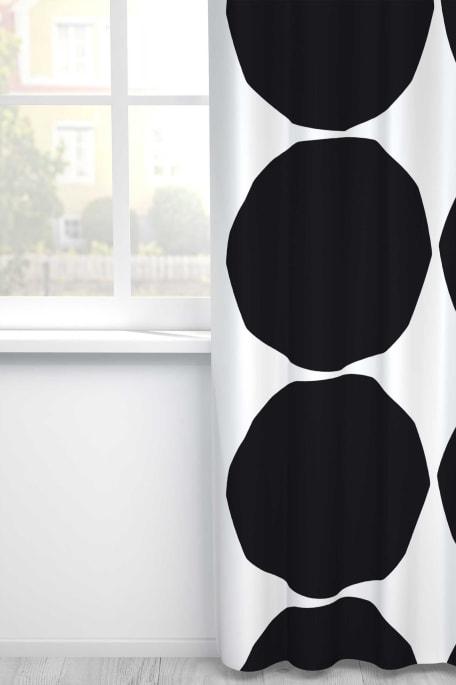 ISOT KIVET -puuvillakangas musta