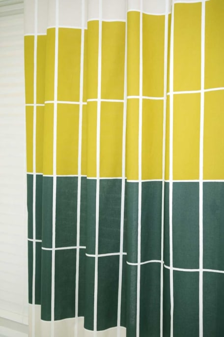 TIILISKIVI -puuvillakangas keltainen