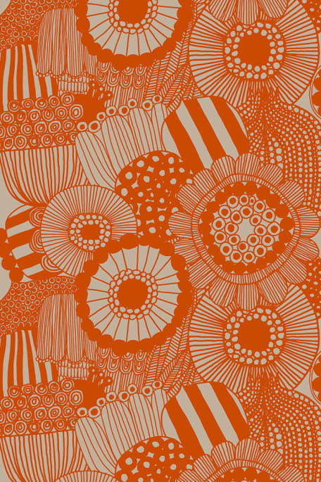 SIIRTOLAPUUTARHA -pellavakangas oranssi
