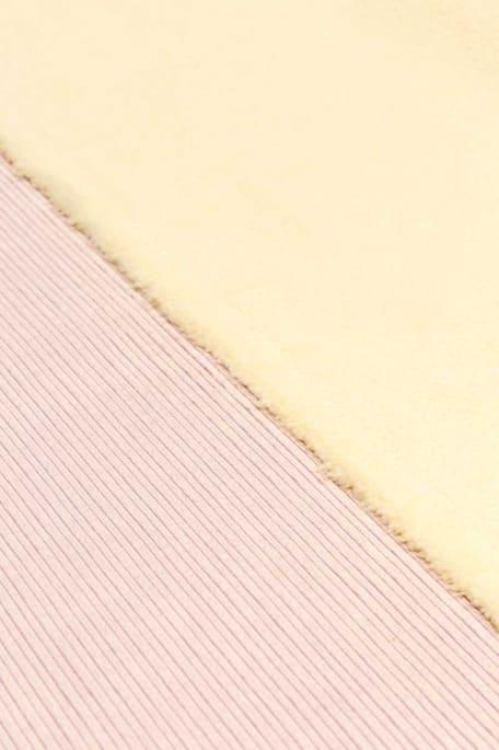 CORDUROY BONDED FUR vaaleanpunainen