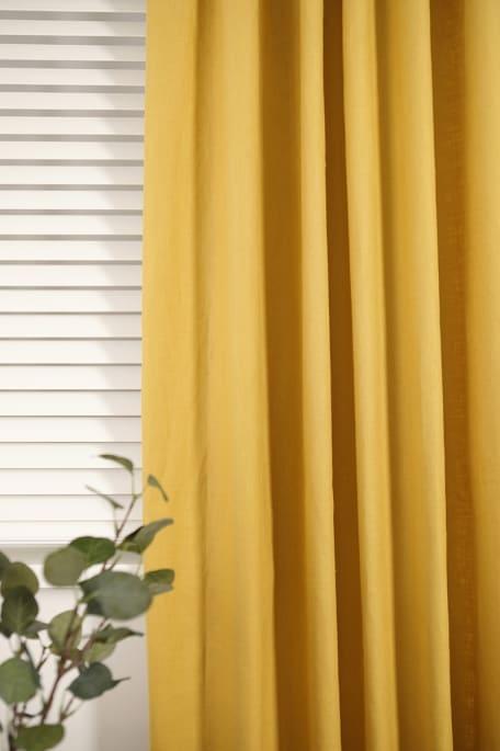 MADDY -verho 140x250 cm keltainen
