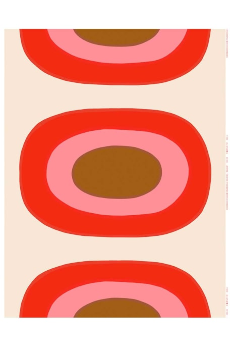 MELOONI -akryylipinnoitettu puuvillakangas punainen