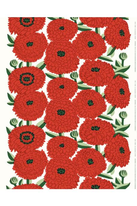 PRIMAVERA -puuvillakangas punainen